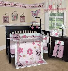 Pink And Brown Bedroom Pink And Brown Flower Baby Bedding Flowers Ideas
