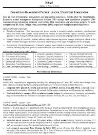 Engineer Resume Templates Sample Resume Engineering Management Page
