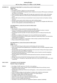 Environmental Health Specialist Sample Resume Environmental Health Safety Specialist Resume Samples Velvet Jobs 22