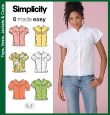 Simplicity Blouse Patterns Gorgeous Simplicity Blouse Patterns Blouses All Here