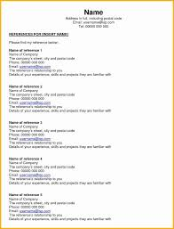 Reference Sheet Example Reference Page Examples Reference Page Of