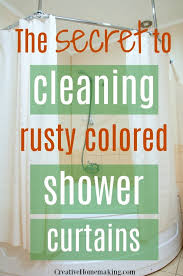 how to remove stains from shower curtains my favorite cleaning s for washing rust colored shower curtains and shower curtain liners find