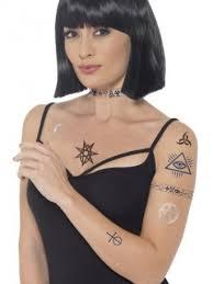 Nalepovací Dočasné Tetování černá Magie