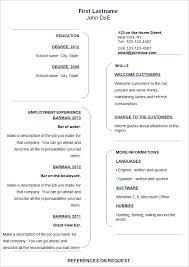 Free Basic Resume Templates Lezincdc Com