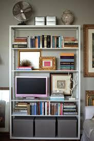 Furniture:Small White Modern Ikea Bookcase With Small Computer Desk Small  White Modern Ikea Bookcase