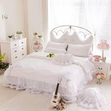 luxury snow white bedding sets queen