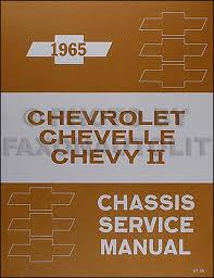 1965 Chevy Repair Shop Manual Impala Caprice Chevelle Malibu El ...