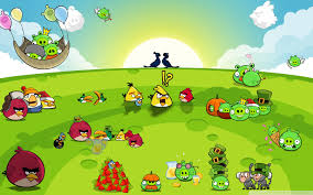 Angry Birds Party Ultra HD Desktop Background Wallpaper for