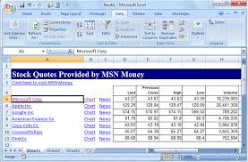 Microsoft Stock Quote Impressive How To Get Stock Quotes In Excel
