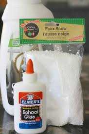 fake snow slime recipe for winter science activities