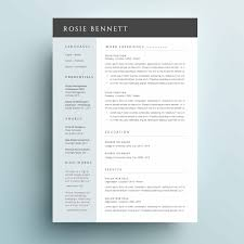 4 Page Resume Template The Rosie Impresumes Resumes And