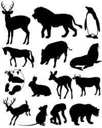 動物のシルエット素材集動物のイラストのフリーダウンロード素材