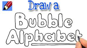 How To Draw Bubble Writing Real Easy Youtube