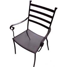 metal patio chairs. Charcoal Terrace Dining Chair Wrought Iron Garden Furniture: Amusing Metal Patio Chairs