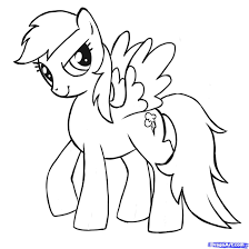 my little pony drawings how to draw rainbow dash my little pony friendship is