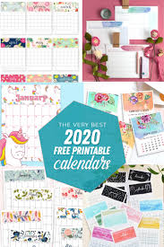 Free printable coloring pages for children that you can print out and color. The Best Free Printable Calendars Of 2020 The Craft Patch