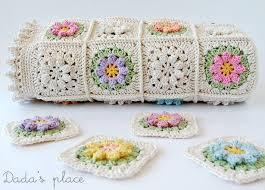 Free Granny Square Baby Blanket Patterns - Craftsy & Bright flower granny square baby blanket Adamdwight.com