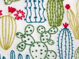 Cactus Embroidery Pattern Best Decorating
