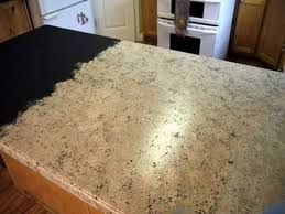 image of painting laminate countertops to look like granite
