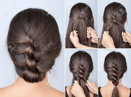 シンプルなツイスト髪型チュートリアルロングヘアの簡単なヘアスタイル