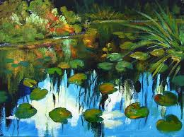 how to paint monet style water lilies in acrylic paint by ginger cook a step by step tutorial