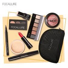 focallure set makeup kit lipstick eyeshadow pallete foundation blush eyeliner mascara face powder for makeup beginners cosmetics