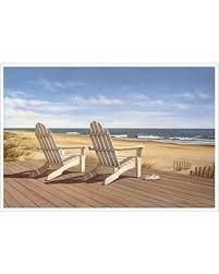 Adirondack chairs on beach Multi Colored Point East By Daniel Pollera 14x10 Coastal Art Print Poster Adirondack Chairs On Beach Better Homes And Gardens Sweet Savings On Point East By Daniel Pollera 14x10 Coastal Art