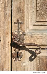 architectural details an antique door on an old church
