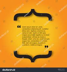 Quote Citation Typographical Template Vector Design Stock Vector