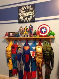 Superhero Coat Rack Hang up a coat rack for all the kids super hero costumes and put a 1