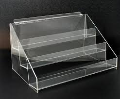 Acrylic Tiered Display Stands Acrylic Slatwall 100 Tier Display Shelf Holder Rack Riser 1
