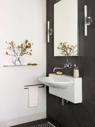 spacious all white bathroom. Smart Wall Mount Sinks For Small Bathrooms Keeping The Flooring Spacious : Pleasant All White Bathroom ,
