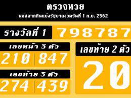 แจกผลรางวัลสลาก 1 กันยายน 2562 แบบเต็มจากกองสลาก | Thaiger ข่าวไทย