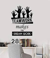 office inspiration quotes. Delighful Inspiration NSunForest Office Inspirational Words Wall Decal Teamwork Makes The Dream  Work Motivational Quotes Home With Inspiration