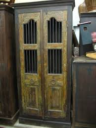 on ebay antique india reclaimed teak iron bar cupboard cabinet old door jali