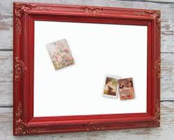 Framed Dry Erase Board Dry Erase Board Baroque Framed 31x27 Red Framed