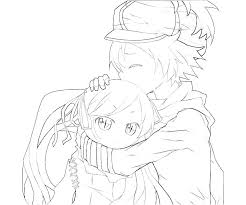 Anime Boy Coloring Pages Printable Anime Wolf Boy Coloring Pages