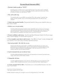 Resume With Branding Statement Personal brand statement examples current see resume branding sample 1