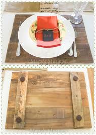 making placemats chargers from wood pallets