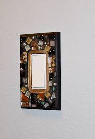 want to bling up you wall a bit how bout switch plate covers , crafts,