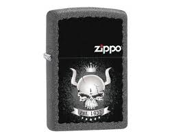 Купить <b>зажигалку Zippo</b> 28660 Skull with Horns and Crown with ...