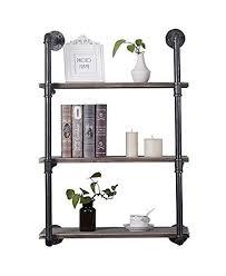 nxn home 2 tier industrial pipe shelf