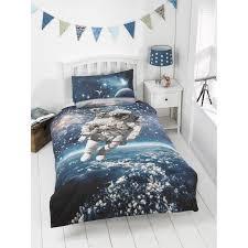 kids glow in the dark single duvet set space walker bedding cover plan 17
