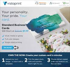 vistaprint business cards free 500
