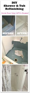 shower and tub refinishing paint your old 1970 s shower white thrift diving blog