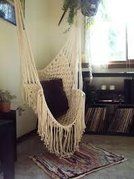 hippy hammock macrame chair via