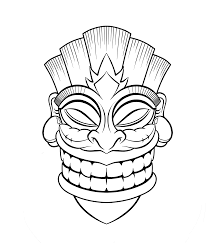Small Picture Good Tiki Mask Coloring Pages 87 About Remodel Coloring Pages for