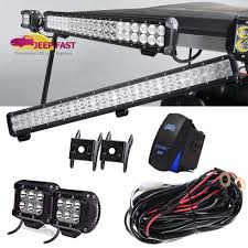 12 Volt Led Light Bar For Golf Cart Details About For Rxv Factory Style Golf Cart Full 25inch Led Light Bar 2xcube Pods Wire Kit
