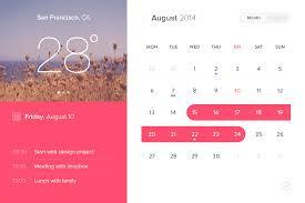 Calendar Interface Design Event Calendar Widget Ui Design Free Psd Download Psd