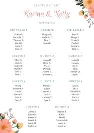 Green And Red Wedding Seating Chart Templates By Canva